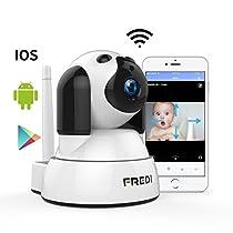 FREDI WiFi監視カメラ 高画質HDベビーモニター 遠隔監視・操作 ...