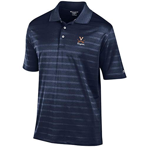 Champion University of Virginia Cavaliers Men's Polo Textured Solid Polo (Medium)