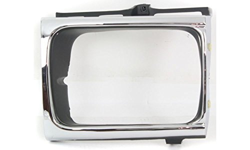 Evan-Fischer EVA18972010115 Headlight Door Single Passenger Side RH Grill Extension Grille headlamp Bezel Molding Moulding trim - Passenger Door Moulding