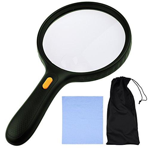 kare and kind extra large 3 led handheld magnifying glass. Black Bedroom Furniture Sets. Home Design Ideas