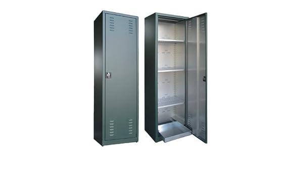 Armario para plaguicidas 2 puertas en chapa galvanizada plastificada 100X45X200: Amazon.es: Hogar