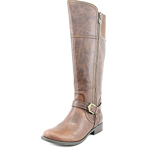 G by GUESS Womens Hailee Leather Closed Toe Knee High Riding, Brown, Size 5.0 by G by GUESS