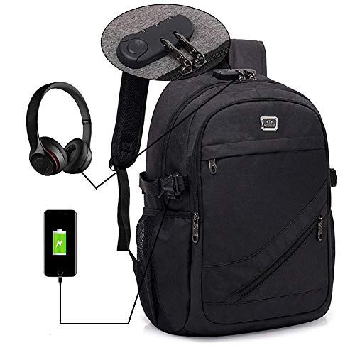 Business Laptop Backpack, LEEGOAL Anti-Theft Water Resistant