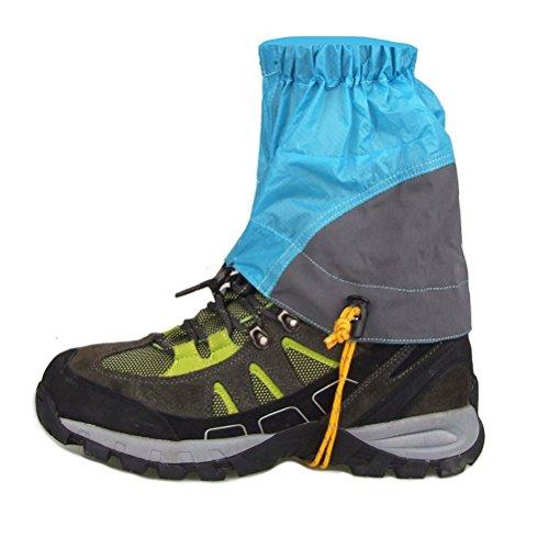 NUOLUX Pair of Outdoor Waterproof Ankle Walking Gaiters Hiking (Blue)