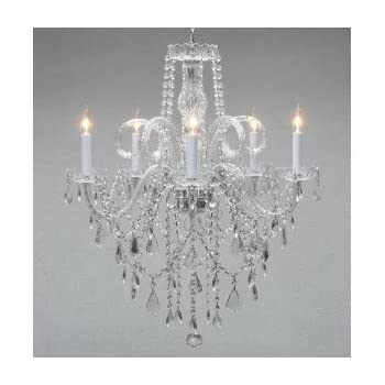 Crystal chandelier chandeliers lighting h25 x w24 swag plug in authentic all crystal chandelier chandeliers h30 x w24 swag plug in chandelier w mozeypictures Choice Image