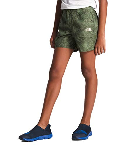 Clover Kids Hoodie - The North Face Kids Girl's Amphibious Shorts (Little Kids/Big Kids) Four Leaf Clover/Agave Print Small