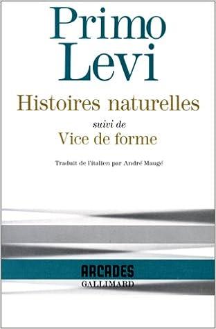 """En ligne téléchargement gratuit Histoires naturelles, suivi de """"Vice de forme"""" pdf, epub"""