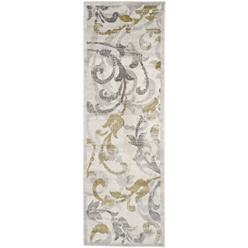 (Safavieh Amherst Collection AMT428E Ivory and Light Grey Indoor/ Outdoor Runner (2'3