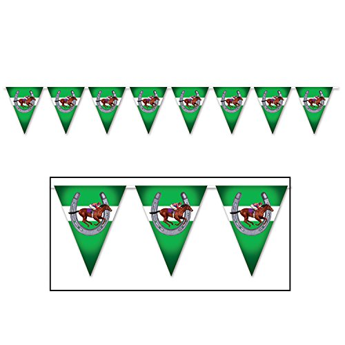 Beistle 59881 Horse Racing Pennant Banner, 11