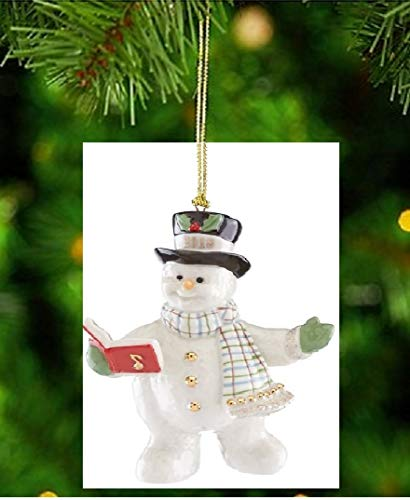 Lenox 2018 Snowy Song Snowman PORCELAIN Christmas Ornament New in box