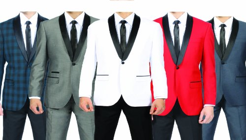 Men's Premium Slim Fit 1 Button Shawl Tuxedo Collection - Many Colors