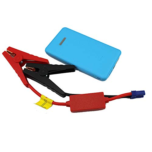 Glumes Portable Car Jump Starter, Power Bank Mini Car Jump Starter Engine Battery Charger Auto Battery Booster with SmartID Charging Ports and Intelligent Clamps (ϟϟBlue) by Glumes (Image #1)