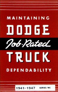 1941-1947 Dodge Truck Owners Manual (with Decal)