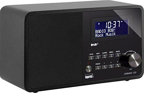 Imperial 22-221-00 DABMAN 100 Digitalradio (DAB+/DAB/UKW, Aux In, Holzgehäuse, LCD-Display) schwarz