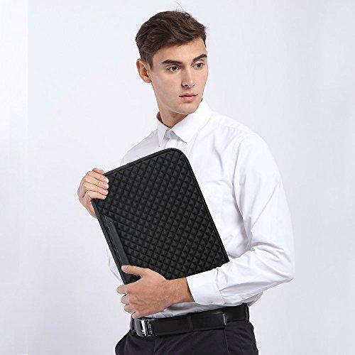 iCozzier 15-15.6 Inch Diamond Foam Handle Laptop Sleeve Shock Resistant ElectronicsAccessories Storage/Stylish Travel Organizer for Laptop/Ultrabook/ Notebook/Netbook/ MacBook - Black by iCozzier (Image #6)