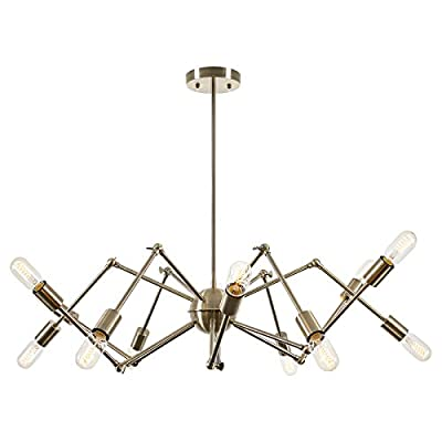 Light Society LS-C111-CRM Arachnid 12-Light Chandelier Pendant
