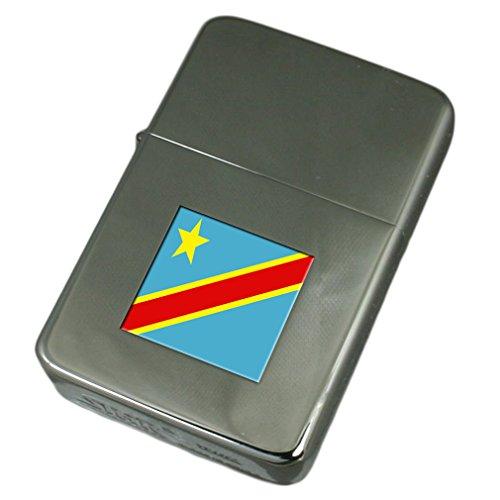Engraved Lighter Congo-Kinshasa Flag ()