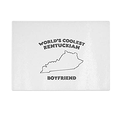 World'S Coolest Kentuckian Boyfriend Kentucky Kitchen Bar Glass Cutting Board