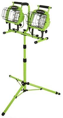 Designers Edge L-5502 Industrial 1400-Watt Twin-Head Adjustable Work Light with Telescoping Tripod Stand, Halogen