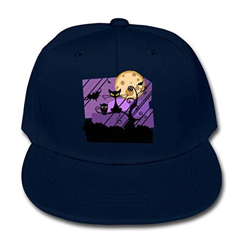 Manlee Owl Live Halloween Unisex Kids Plain Cotton Adjustable Low Profile Baseball Cap Hat Navy -