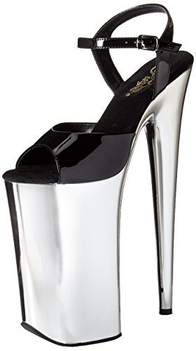 39 Size Uk Chrome Beyond Pleaser 6 009 Eu Blk slv wT7zXUAFq
