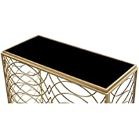 Convenience Concepts Gold Coast Tranquility Console Table, Gold / Black Glass