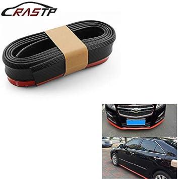 Bande de pare-chocs 2.5m Protections dpare-chocs avant l/èvres autocollant de voiture Splitter Body Kits Spoiler Pare-chocs Valance voiture caoutchouc bande RS-LKT006-3D Color : Black red