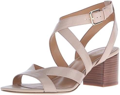 Nine West Women's Greentea Leather Heeled Sandal