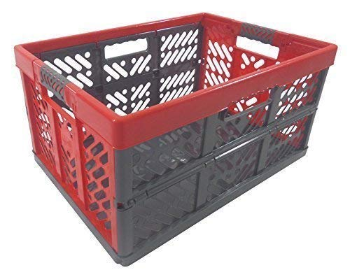 Klappbox T/ÜV certficado 45 L hasta 50 kg anthracite rojo Caja plegable Pl/ástico Caj/ón Caja Profesional