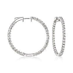 Diamond Inside-Outside Hoop Earrings