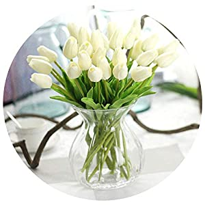 31pcs/lot Tulips Artificial Flowers PU Artificial Bouquet Real Touch Flowers for Home Wedding Decorative Flowers & Wreaths,w 61