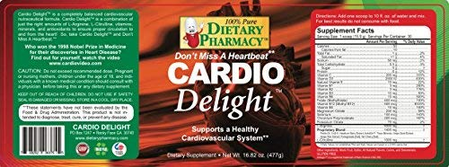 Cardio Delight – Heart Health – Professional Grade Arginine Citrulline – Nitric-Oxide – 16.82 Ounce Powder with Scoop – Tart Cherry Flavor, 30 Day Supply