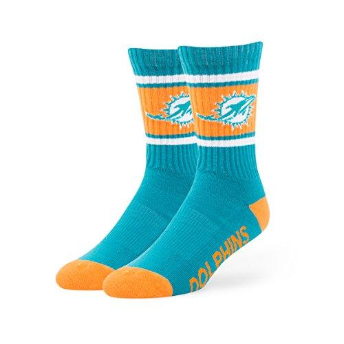 NFL Miami Dolphins '47 Duster Sport Socks, Neptune, Large (Men's 9-13 / Women's 10-12), 1-Pack