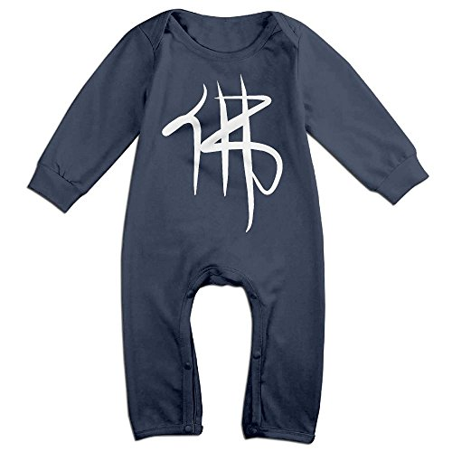 Buddha Baby Costume (Baby Infant Romper Chinese Characters Buddha Long Sleeve Playsuit Outfits Navy 24 Months)
