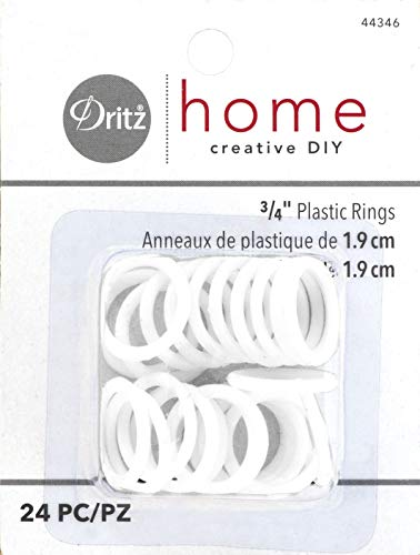 (Dritz Home 44346 Plastic Rings, 3/4-Inch, White (24-Piece))