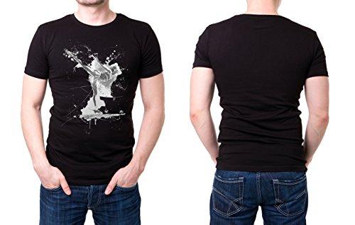 Eiskunstlauf_I schwarzes modernes Herren T-Shirt mit stylischen Aufdruck