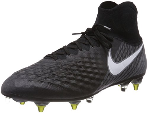 Nike Magista Obra II SG-Pro Anti Clog, Herren Fußballschuhe, Schwarz (Black/White-Dark Grey-Stadium Green), 45.5 EU (10.5 UK)
