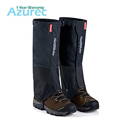Azurec 1 Pair Outdoor Snow Leg Gaiters Leggings Cover, Waterproof Snowproof Anti-tear, for Hiking Climbing Hunting