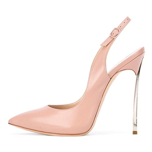 Heels Onlymaker Pointed Shoes B pink Bowknot Women's Court High Sexy Stiletto Toe Metal qqYr6Cx