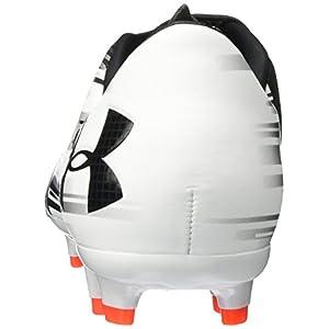 Under Armour Men's Spotlight DL FG Soccer Cleat White/Phoenix Fire/Black Size 10.5 M US
