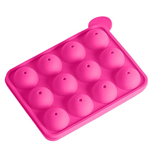 (Iusun Biscuit Maker,Multifunction 12 Non Stick Embellisment Silicone Cake Baking Mould Cookies Press Cake Lollipop Decorator Pump Machine Kit Icing Syringe Kitchen Mold Tools Set (Hot Pink))