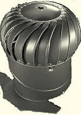 AIR VENT 52608 12'' Internally Braced Galvanized Turbine with Base/Weather wood