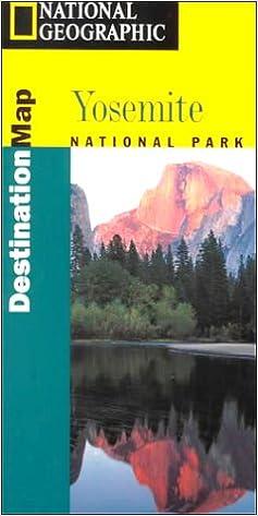 National Geographic Destination Map Yosemite National Park (Yosemite ...