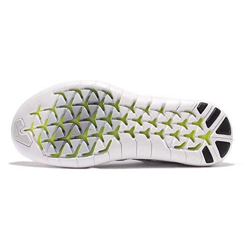 Nike Womens Free Rn Motion Flyknit 2017 Scarpa Da Corsa Bianco / Grigio Lupo-platino Puro Volt 9.5