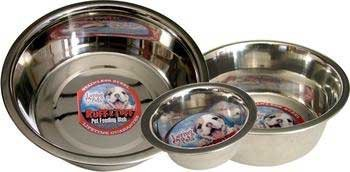 Loving Pets DLV7202 Standard Stainless Steel Dog Bowl, 1-Quart, My Pet Supplies