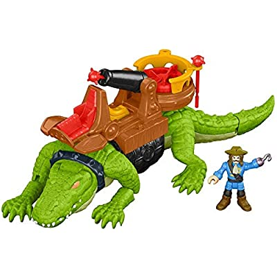 Fisher-Price Imaginext Walking Croc & Pirate Hook: Toys & Games