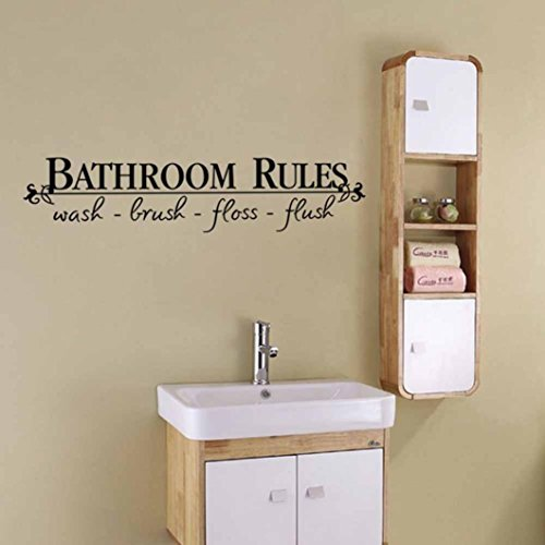 AIMTOPPY Removable DIY Wall Sticker Mural Home Decal Decor For Bathroom