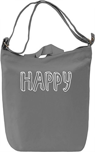 Happy Borsa Giornaliera Canvas Canvas Day Bag| 100% Premium Cotton Canvas| DTG Printing|