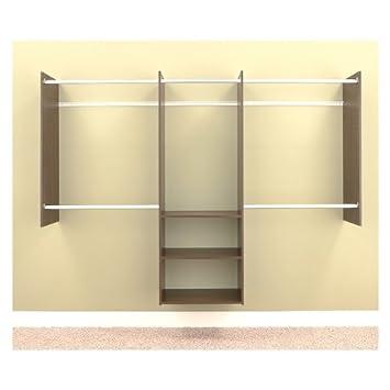 wardrobe 8 feet. easy track rb1460tpk closet deluxe starter kit 4 to 8 wardrobe feet