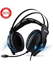 ⭐️KLIM™ IMPACT - USB Gamer Headset - 7.1 Surround Sound + Noise Isolating - High definition Audio + Strong Bass - Gaming Video Games Headset with Microphone for PC PS4 [ New 2019 Version ]